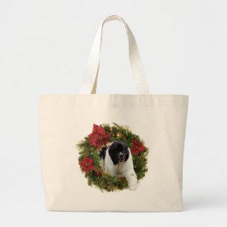 Christmas Wreath Newf Landseer Bag