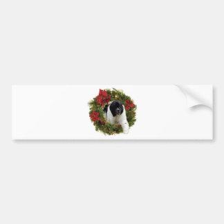Christmas Wreath Newf Landseer Bumper Sticker