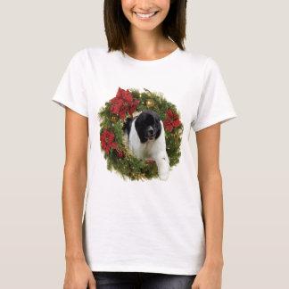 Christmas Wreath Newf Landseer T-Shirt