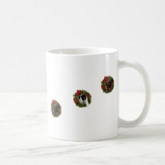 Christmas Wreath Newfoundland Dog Wrapping Paper Classic White Coffee Mug