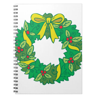 Christmas Wreath Notebook