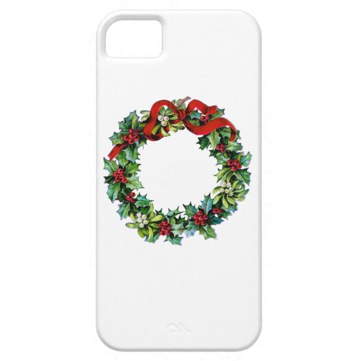 Christmas Wreath of Holly and MIstletoe iPhone SE/5/5s Case
