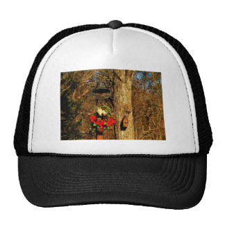 Christmas Wreath Old Bells and Birdhouse Trucker Hat