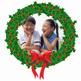 Christmas Wreath Ornament Customizable Photo Frame