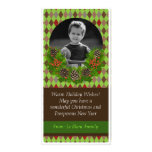 Christmas Wreath Photo Greeting Card