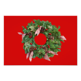 Christmas Wreath Photo Print