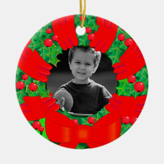 Christmas Wreath Picture Ornament