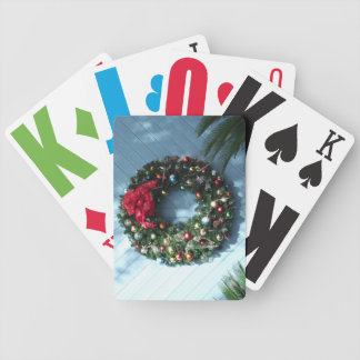 Christmas Wreath Playing Cards