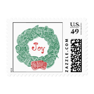 Christmas Wreath Postage