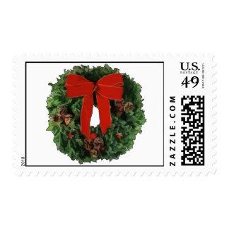 Christmas Wreath Postage Stamp