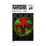 Christmas Wreath Postage Stamp