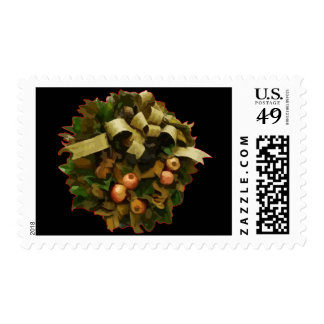 Christmas Wreath Postage Stamps