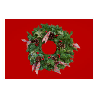 Christmas Wreath Posters