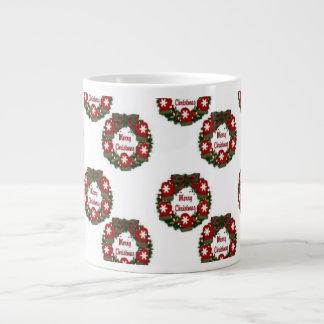 Christmas Wreath Red Mittens.jpg Large Coffee Mug