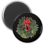 Christmas Wreath Refrigerator Magnets