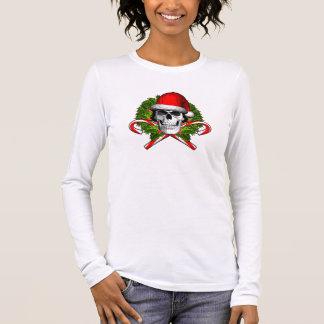 Christmas Wreath Skull Long Sleeve T-Shirt