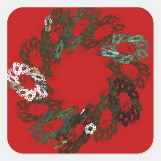 Christmas Wreath Square Sticker