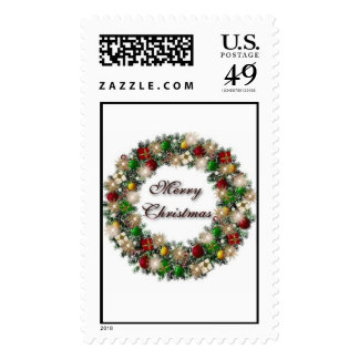 """""""Christmas Wreath"""" Stamps"""