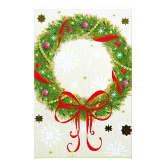 Christmas Wreath Stationery