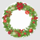 """Christmas Wreath Sticker<br><div class=""""desc"""">Christmas Wreath Sticker</div>"""