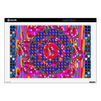 "Christmas wreath style colorful graphics decal for 17"" laptop"