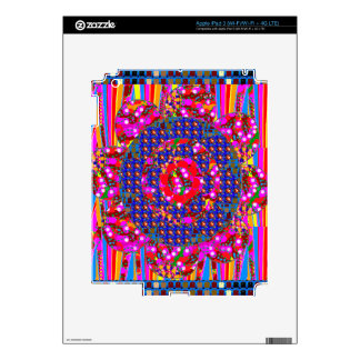 Christmas wreath style colorful graphics skin for iPad 3