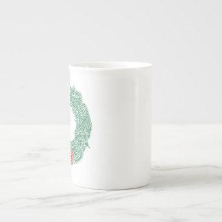 Christmas Wreath Tea Cup