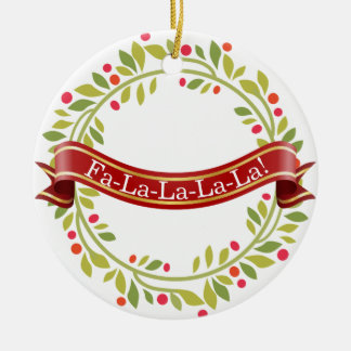 Christmas Wreath Tis The Season Ceramic Ornament