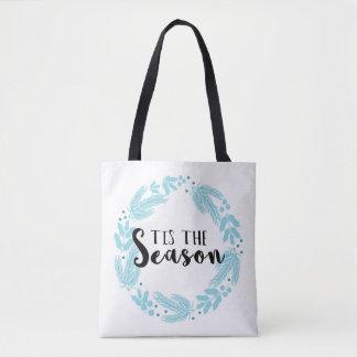 Christmas Wreath Tis the Season Tote Bag