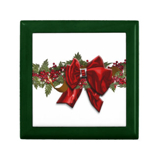Christmas wreath traditional December July Trinket Boxes