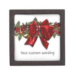 Christmas wreath traditional December July Premium Jewelry Box