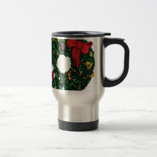 Christmas Wreath Travel Mug