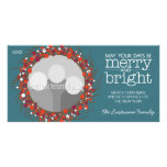 Christmas Wreath - twigs and berries Photo Card