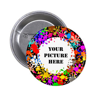 CHRISTMAS WREATH v.6 (THE MODERN ART WREATH) ~ 2 Inch Round Button