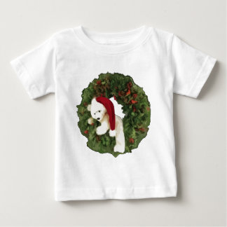 Christmas Wreath with Bear Baby T-Shirt
