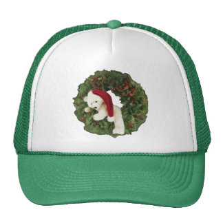 Christmas Wreath with Bear Trucker Hat