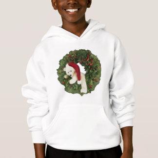 Christmas Wreath with Bear Hoodie