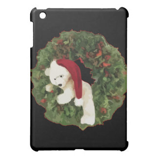 Christmas Wreath with Bear iPad Mini Cover