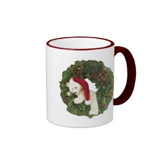 Christmas Wreath with Bear Mug