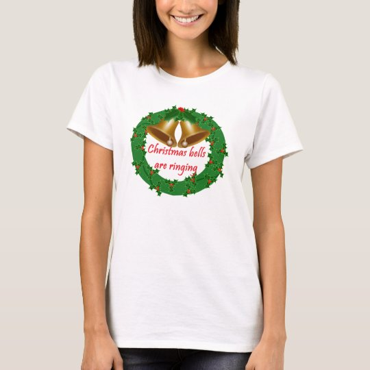 Christmas wreath with bells T-Shirt