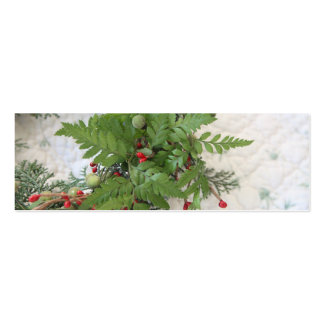 Christmas wreath with ferns bookmark business card