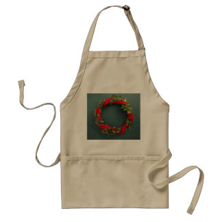 Christmas wreath with velvet ribbon apron