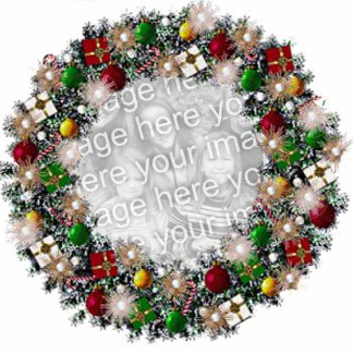 Christmas Wreath With Your Own Photo! photosculpture