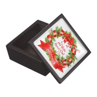 Christmas wreath: Zorionak eta Urte Berri On!, Premium Trinket Box
