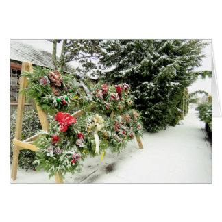 Christmas Wreaths Card