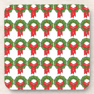 CHRISTMAS WREATHS CHRISTMAS COASTER