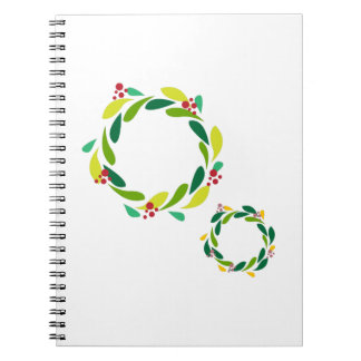Christmas Wreaths Note Book