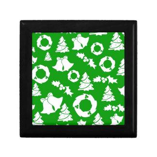 Christmas Wreaths, Trees & Bells Keepsake Boxes