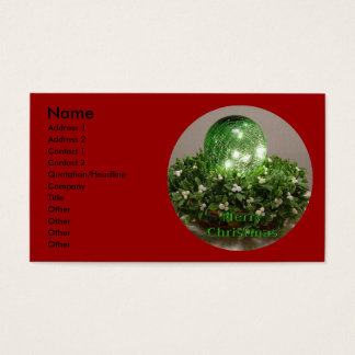 Christmas Wrench Business Card