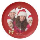 Christmas Xmas Photo Template 2 children family Plate